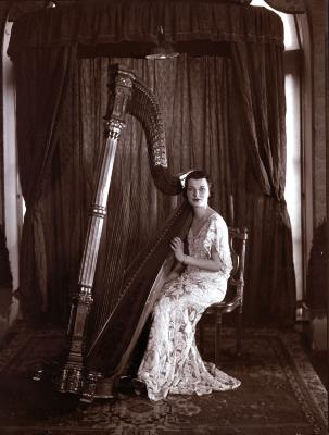 Woman Harpist