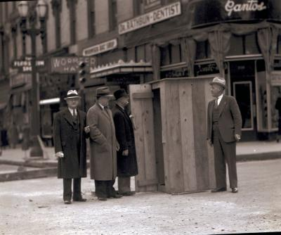 Outhouse on Downtown Street
