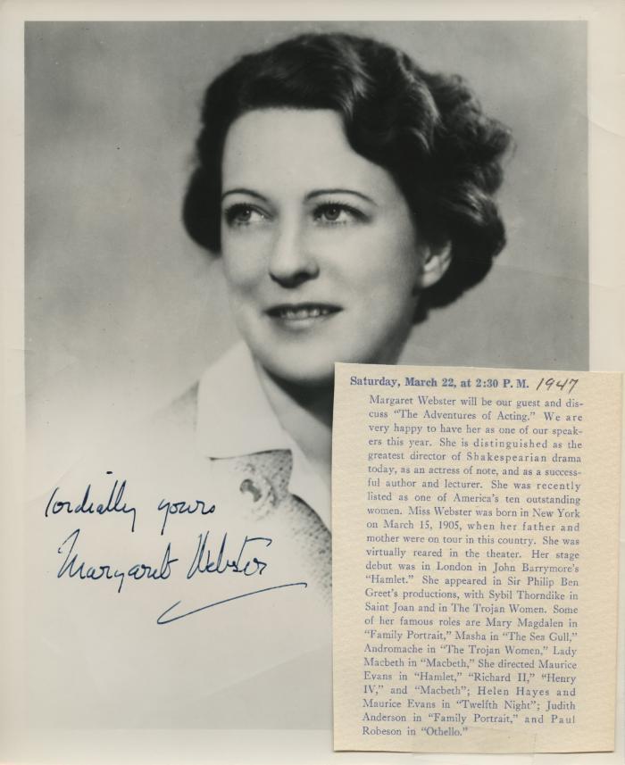 Presenter - Margaret Webster
