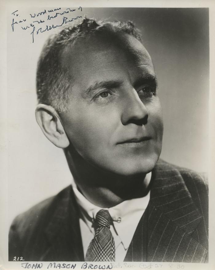 Presenter - John Mason Brown