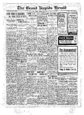 Grand Rapids Herald, Friday, January 14, 1910