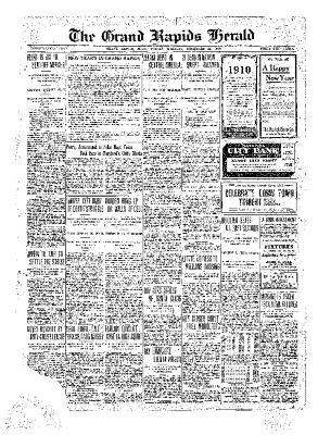Grand Rapids Herald, Friday, December 31, 1909