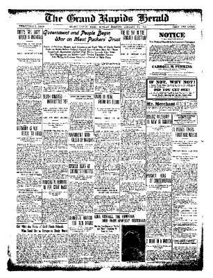 Grand Rapids Herald, Monday, January 24, 1910