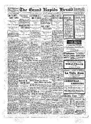 Grand Rapids Herald, Friday, December 24, 1909