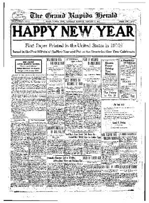 Grand Rapids Herald, Saturday, January 01, 1910