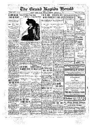 Grand Rapids Herald, Tuesday, January 11, 1910