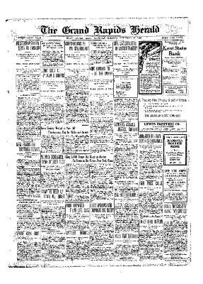 Grand Rapids Herald, Saturday, November 27, 1909