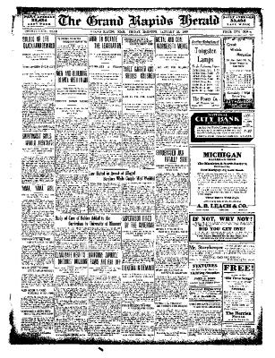 Grand Rapids Herald, Friday, January 21, 1910