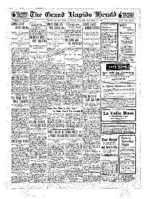 Grand Rapids Herald, Saturday, December 18, 1909