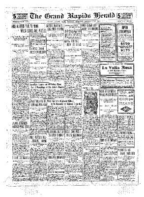 Grand Rapids Herald, Monday, December 20, 1909