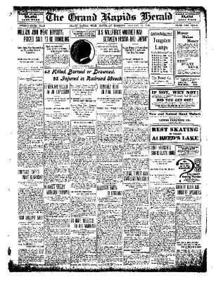 Grand Rapids Herald, Saturday, January 22, 1910