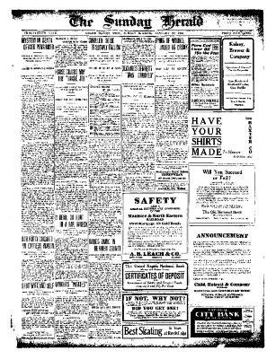 Grand Rapids Herald, Sunday, January 30, 1910