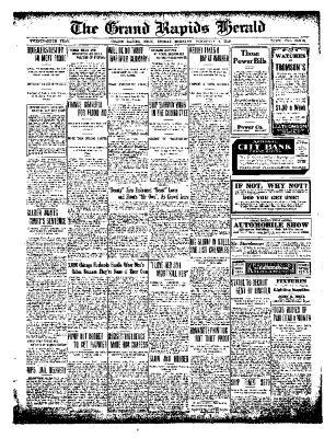 Grand Rapids Herald, Friday, February 04, 1910