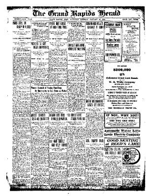 Grand Rapids Herald, Saturday, January 29, 1910