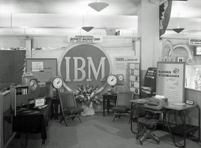 IBM display at convention