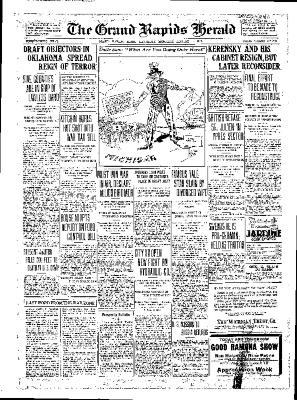 Grand Rapids Herald, Saturday, August 4, 1917