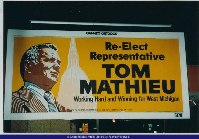 Election Billboard for State Representative Tom Mathieu