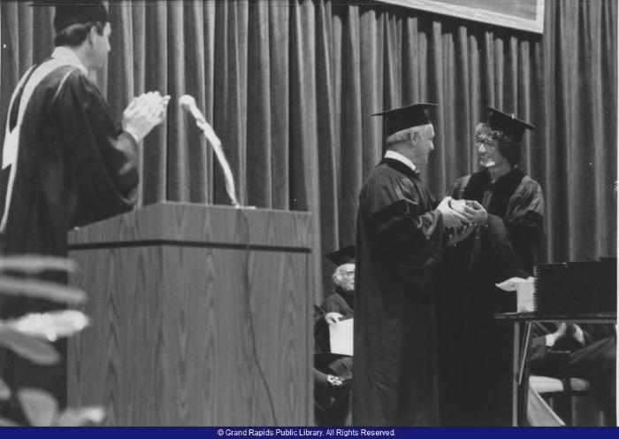State Representative Tom Mathieu receiving honorary degree