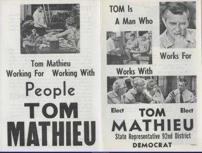 Tom Mathieu Campaign Brochure