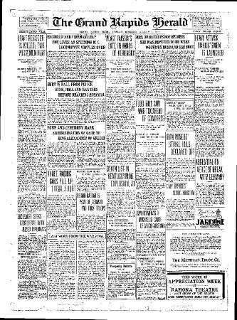 Grand Rapids Herald, Monday, August 6, 1917