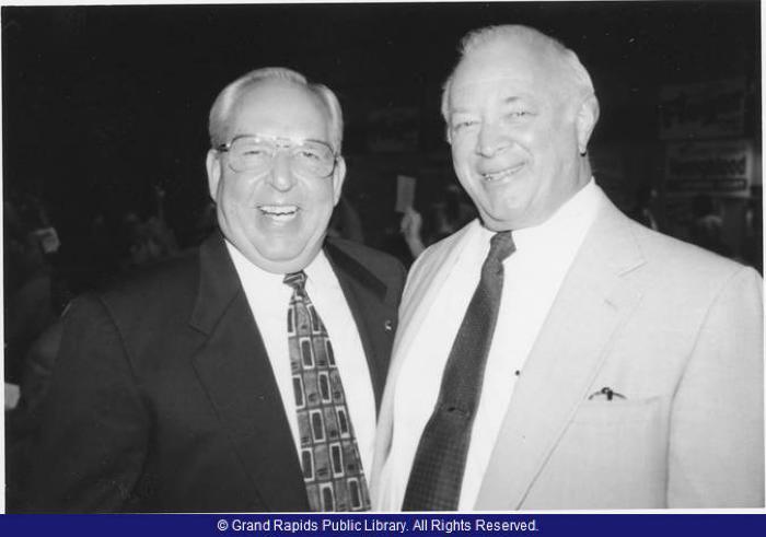 State Representative Tom Mathieu with AFL-CIO President Frank Garrison.