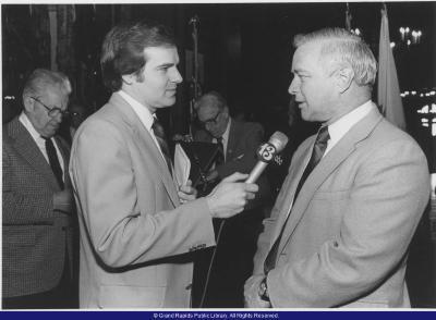 State Representative Mathieu with Robert Kolt from WZZM