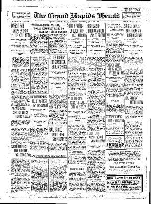 Grand Rapids Herald, Monday, July 30, 1917