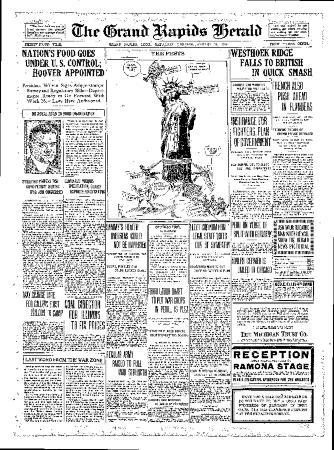 Grand Rapids Herald, Saturday, August 11, 1917