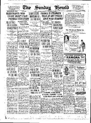 Grand Rapids Herald, Sunday, August 5, 1917