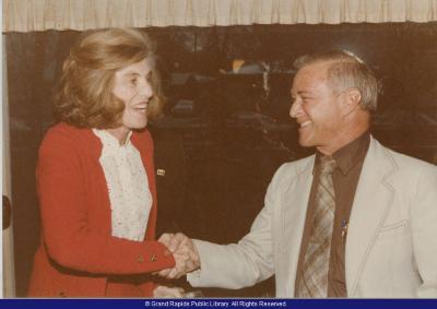 State Representative Tom Mathieu with Eunice Kennedy-Shriver