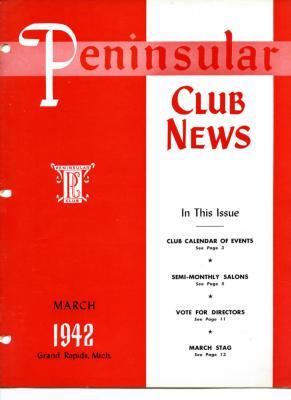 Peninsular Club News, March 1942
