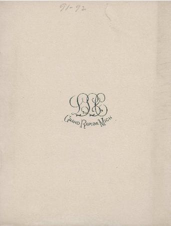 Ladies Literary Club Yearbook 1891-92