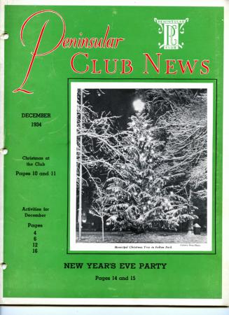 Peninsular Club News, December 1934