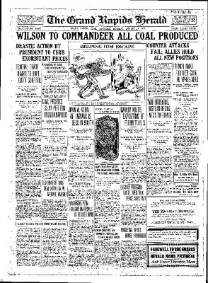 Grand Rapids Herald, Saturday, August 18, 1917