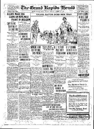 Grand Rapids Herald, Friday, August 17, 1917