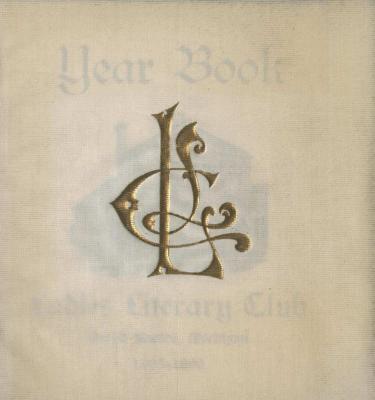 Ladies Literary Club Yearbook 1895-96