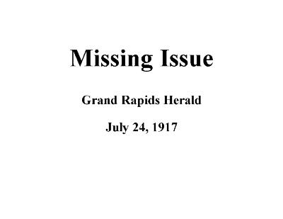 Grand Rapids Herald, Tuesday, July 24, 1917