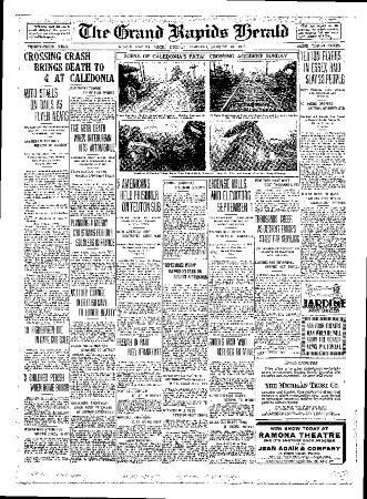 Grand Rapids Herald, Monday, August 13, 1917