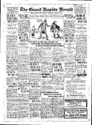 Grand Rapids Herald, Monday, August 20, 1917