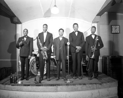 Band at Crispus Atticus Post of the American Legion