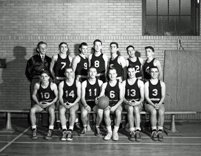 East Grand Rapids High School (Interlochen) student groups, basketball action, etc.