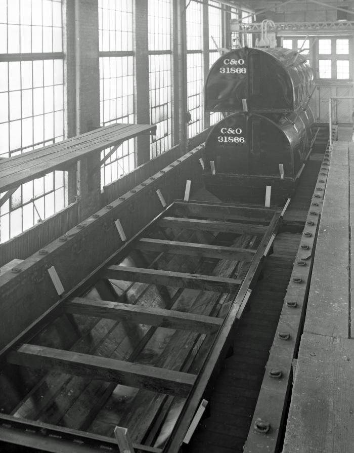 C&O Railroad Converted gondola for hauling steel