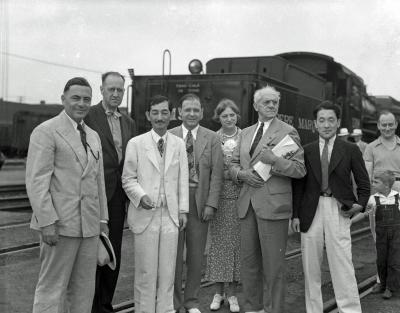 Japanese Ambassador at depot