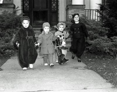 Children modeling clothes
