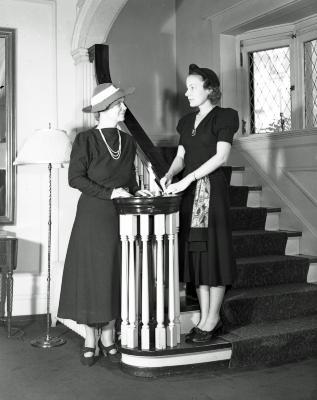 Society ladies at Wenger and Waers