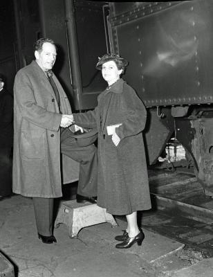 Mr. Kirkwood arriving on train