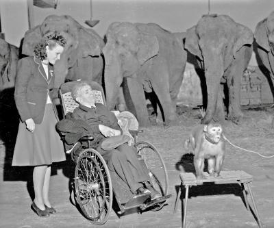 Shrine Circus, old man in wheelchair