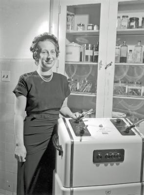 St. Mary's Hospital, league president with equipment