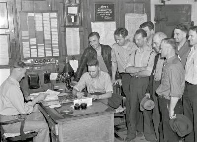 Robert W. Irwin Company, strikers at County Jail