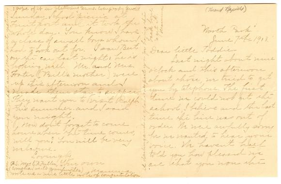 Letter from Clara Comstock Russell to Charles C. Russell (June 7, 1903)